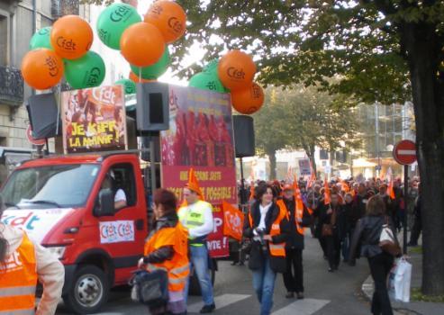 syndicat CFDT Dijon à la manifestation de Dijon contre la réforme des retraites