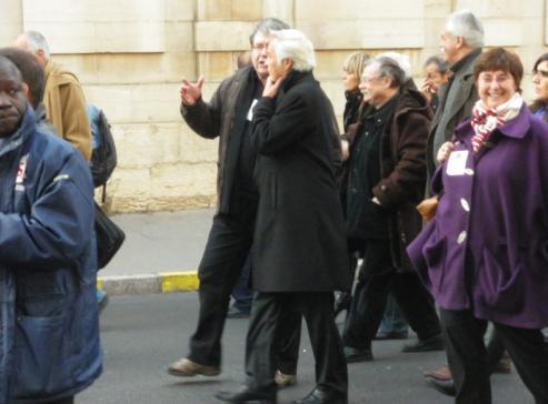 François Rebsamen, sénateur-maire et président du Grand Dijon, à la manifestation de Dijon contre la réforme des retraites