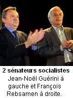 Jean-Noël Guérini et François Rebsamen