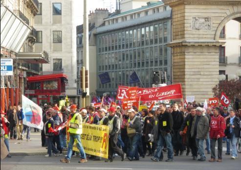Manifestation de Dijon contre la réforme des retraites