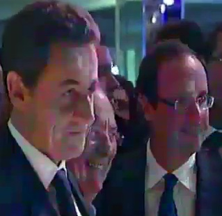 Nicolas Sarkozy, Richard Prasquier et François Hollande au diner du CRIF 2012