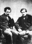 Jules et Edmond de Goncourt, fondateurs de l'Académie Goncourt, Prix Goncourt