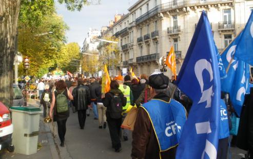Importante manifestation à Dijon contre la réforme des retraites.