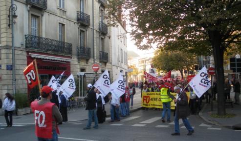 """syndicat """"CFE CGC"""" à la manifestation de Dijon contre la réforme des retraites"""