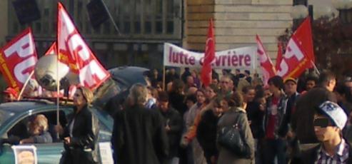 Lutte ouvrière Dijon à la manifestation de Dijon contre la réforme des retraites