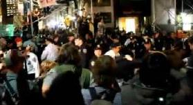 Manifestations de nuit de membres Occupy Wall Street