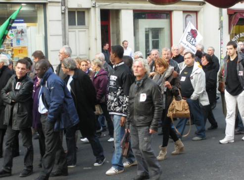 section du Parti socialiste PS la manifestation de Dijon contre la réforme des retraites