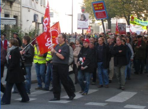 """syndicat """"CGT FAPT de Côte d'Or"""" à la manifestation de Dijon contre la réforme des retraites"""