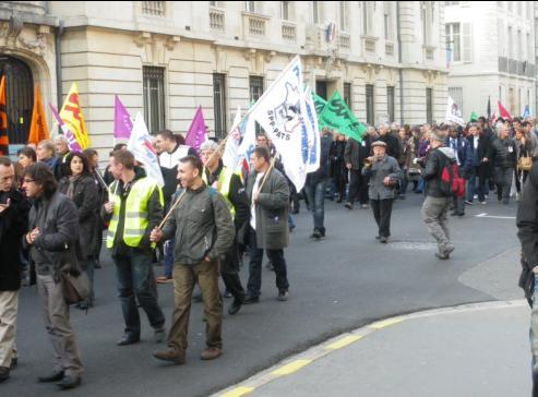 """syndicat """"SPP-PATS"""" Solidaires à la manifestation de Dijon contre la réforme des retraites"""