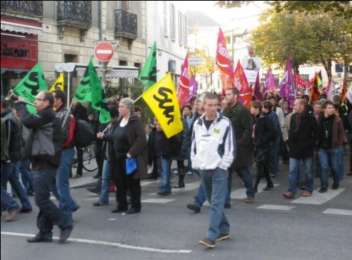 syndicat Sud Rail autoroute Dijon à la manifestation de Dijon contre la réforme des retraites